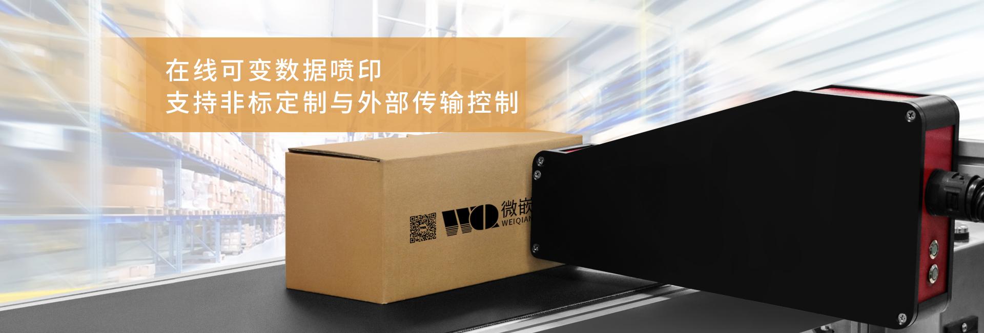 全自动纸箱高速UV喷码机