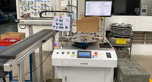 弹簧外壳半自动激光打标机