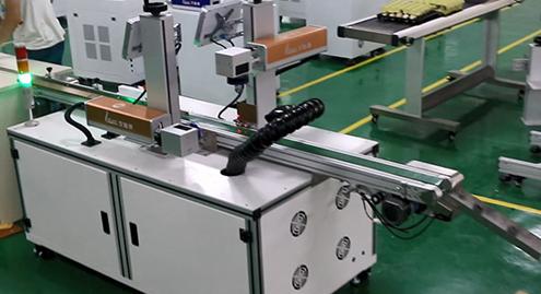 电容外壳双面自动激光打标机