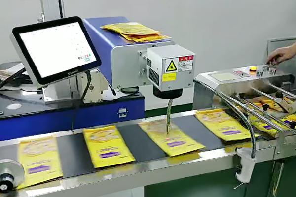 紫外激光打标机流水线作业